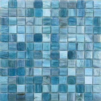 Nautilus Crystal Glass Waterline Tile The Pool Tile