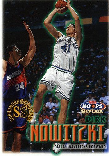 RARE 99/00 SKYBOX NBA HOOPS SOPHOMORE SENSATIONS DIRK NOWITZKI DALLAS MAVERICKS