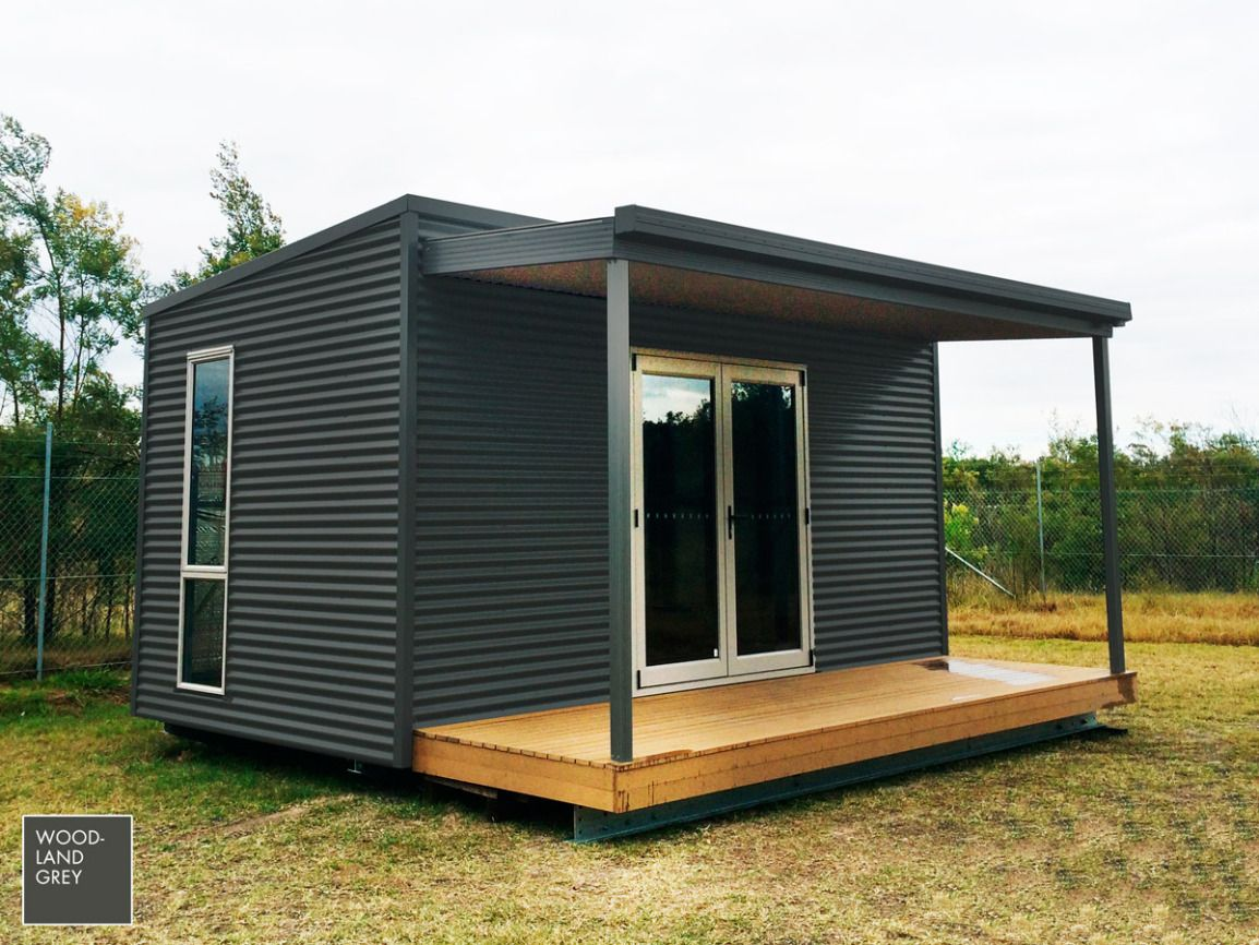 Contemporary exterior innovative designs colorbond contemporary - The Steeline Hunter Pod Is Currently Available In The Complete Classic Contemporary Ranges Of Colorbond