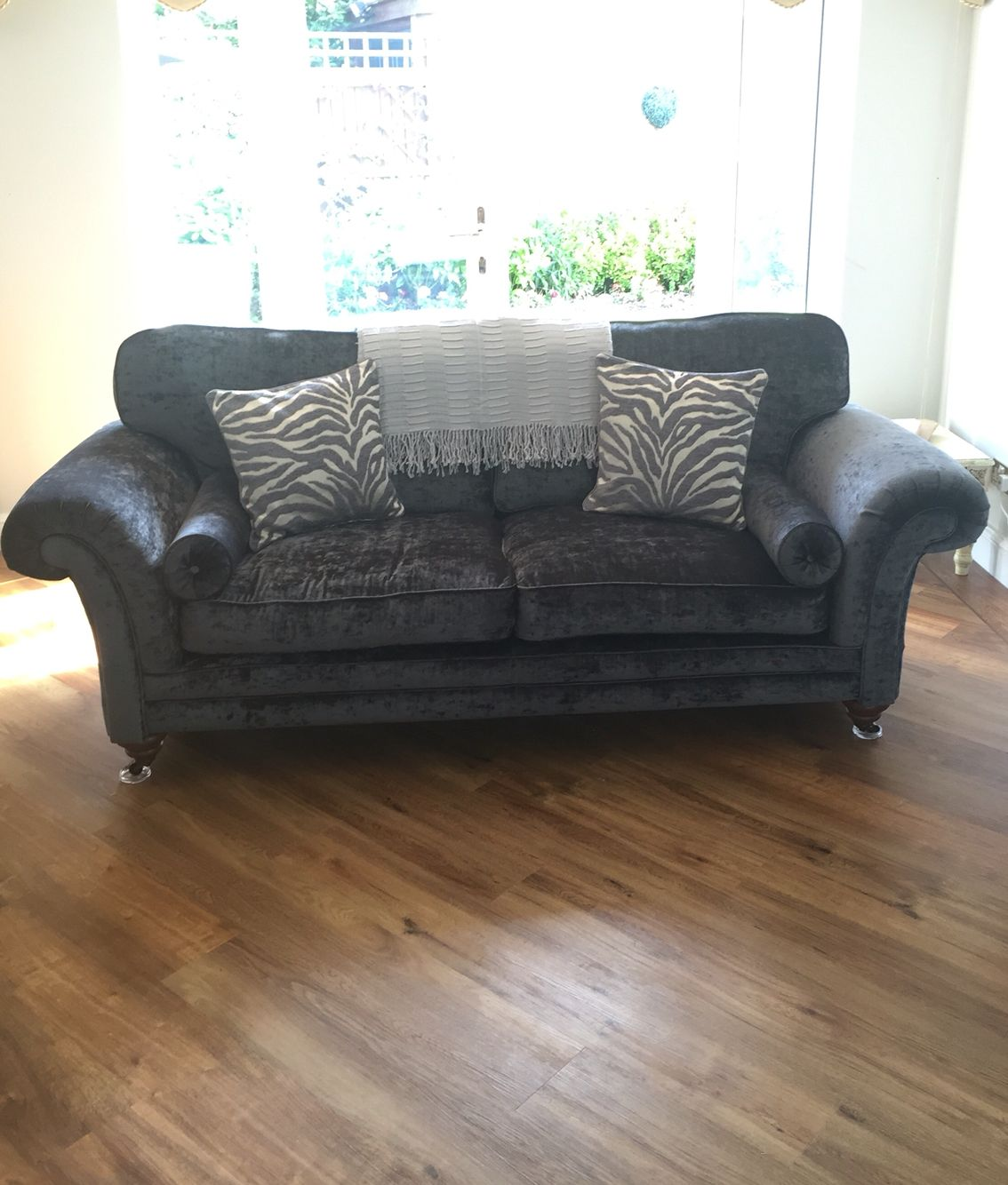 Lansdowne 3 Seater Sofa Paoletti Grey Zebra Print Cushions Grey Room Sofa Printed Cushions