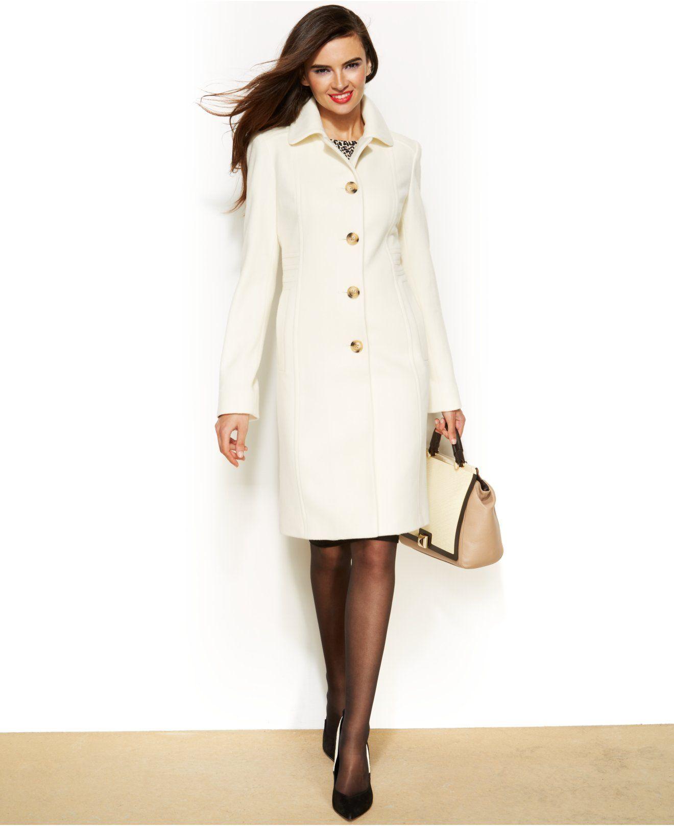 Anne Klein Wool Cashmere Blend Club Collar Walker Coat Coats Women Macy S Elegant Coats Coats For Women Fashion [ 1616 x 1320 Pixel ]