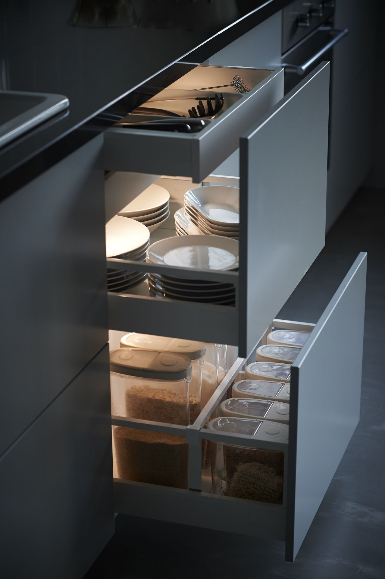 Omlopp Led Strip Voor Lade Aluminiumkleur Kitchen Pinterest