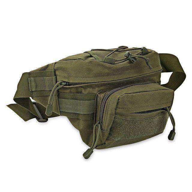 Guapabien Military Men Waist Bags Canvas Waterproof Waist Bag Men Fanny Waist Pack bag Camouflage Travel Bicycle Equipment Tools