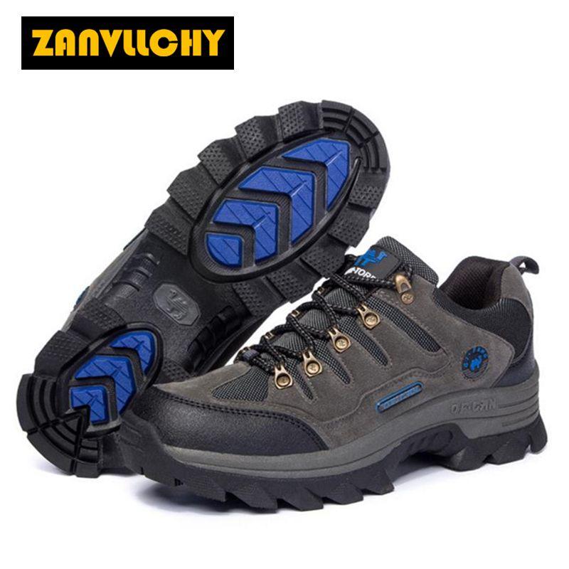 b2b45cdda60 ZANVLLCHY Men's waterproof hiking shoes women outdoor climbing shoes ...