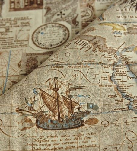 Diy 3a6 8988 vintage nautical map cotton and linen fabric 55 diy 3a6 8988 vintage nautical map cotton and linen fabric 55 width sold by yard gumiabroncs Image collections