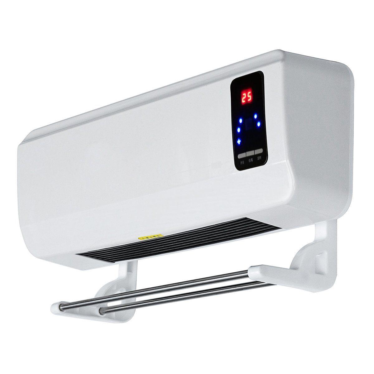 220v 2000w Wall Mounted Heater Timing Space Heating Ptc Air Conditioner Dehumidifier Kondicioner Displej Indoneziya