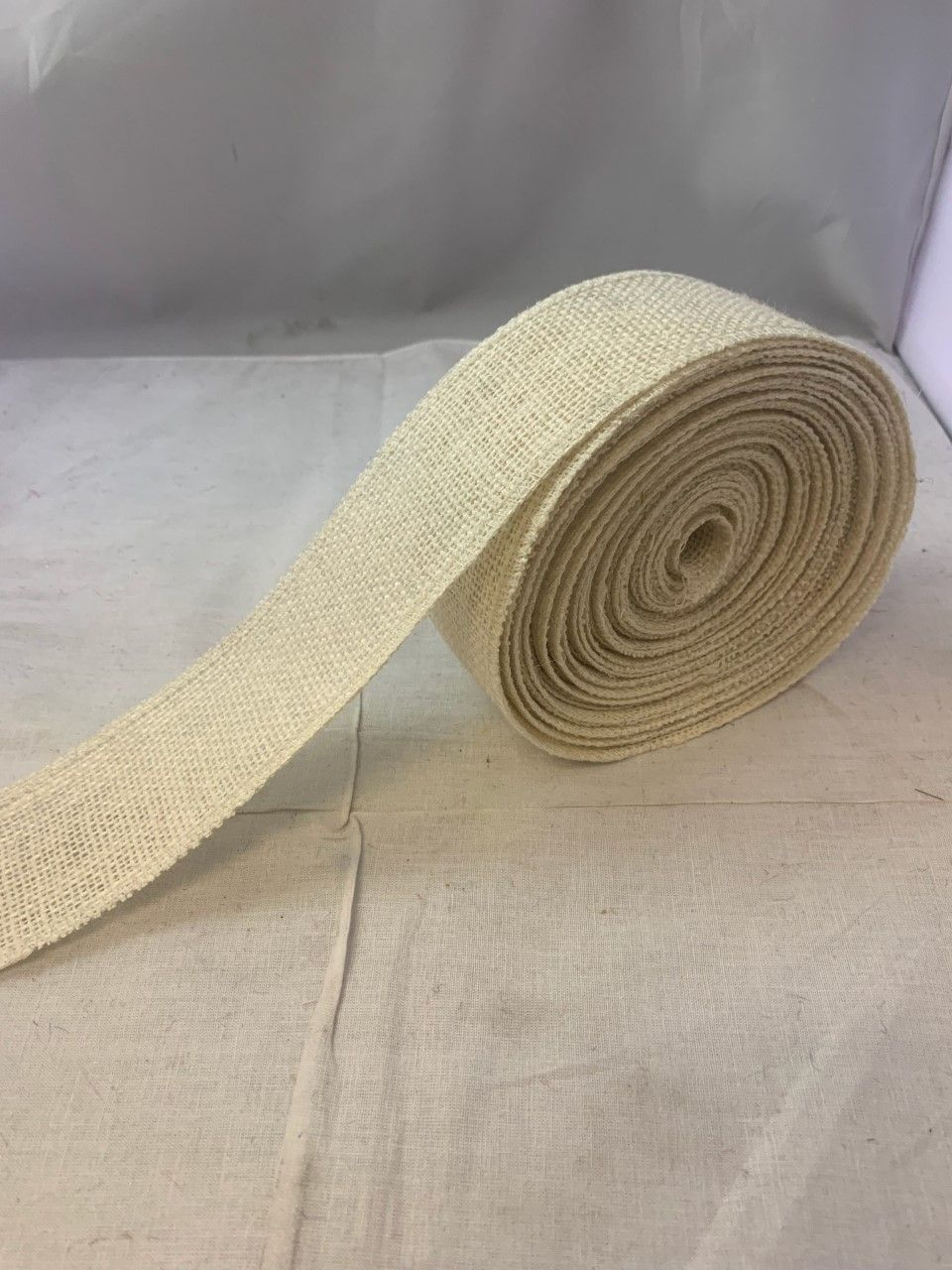 2 Oyster Burlap Ribbon 10 Yards Serged Made In Usa In 2020 Burlap Ribbon Burlap Ribbon