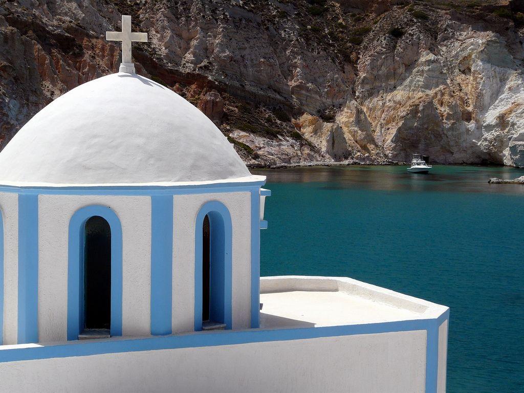 Church in Firopotamos, Milos Island, Greece