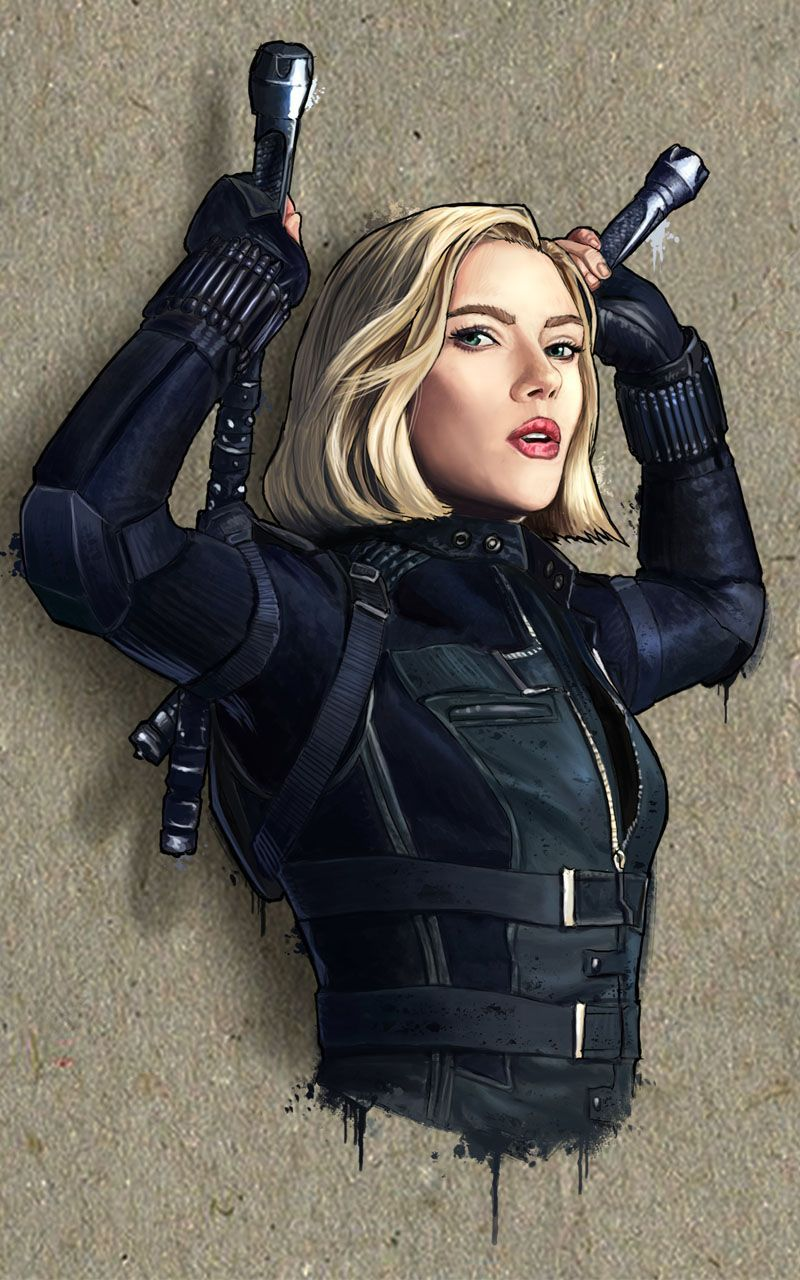 Marvel Black Widow mobile wallpaper. Visit our website to