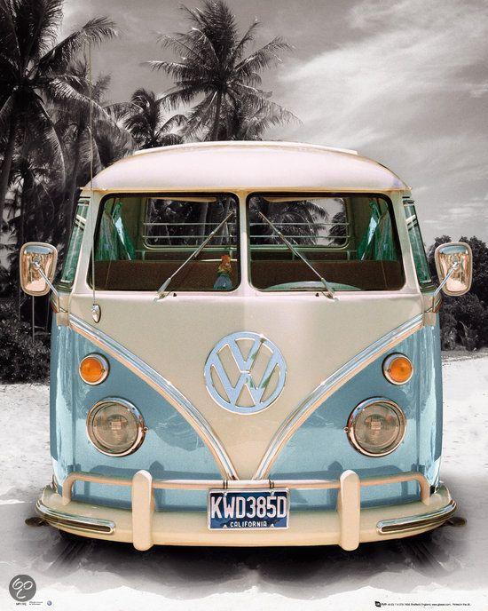 Reinders Schilderij VW Californian Camper - Deco Panel - 40 x 50 cm - no. 21230