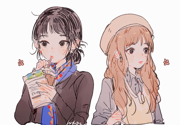 By Hrd0c Friend Anime Cute Art Anime Best Friends