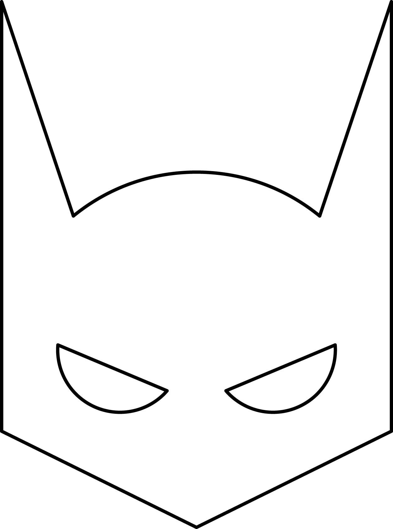 Batman Mask Coloring Pages | Superhero mask template ...