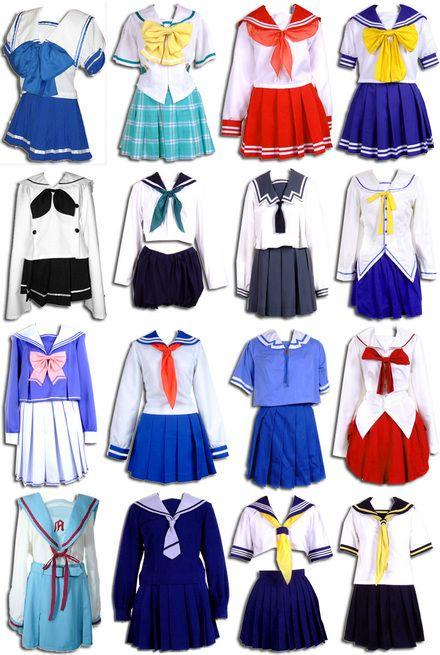 Anime School Uniform Dresses Uniformes Escolares In 2019