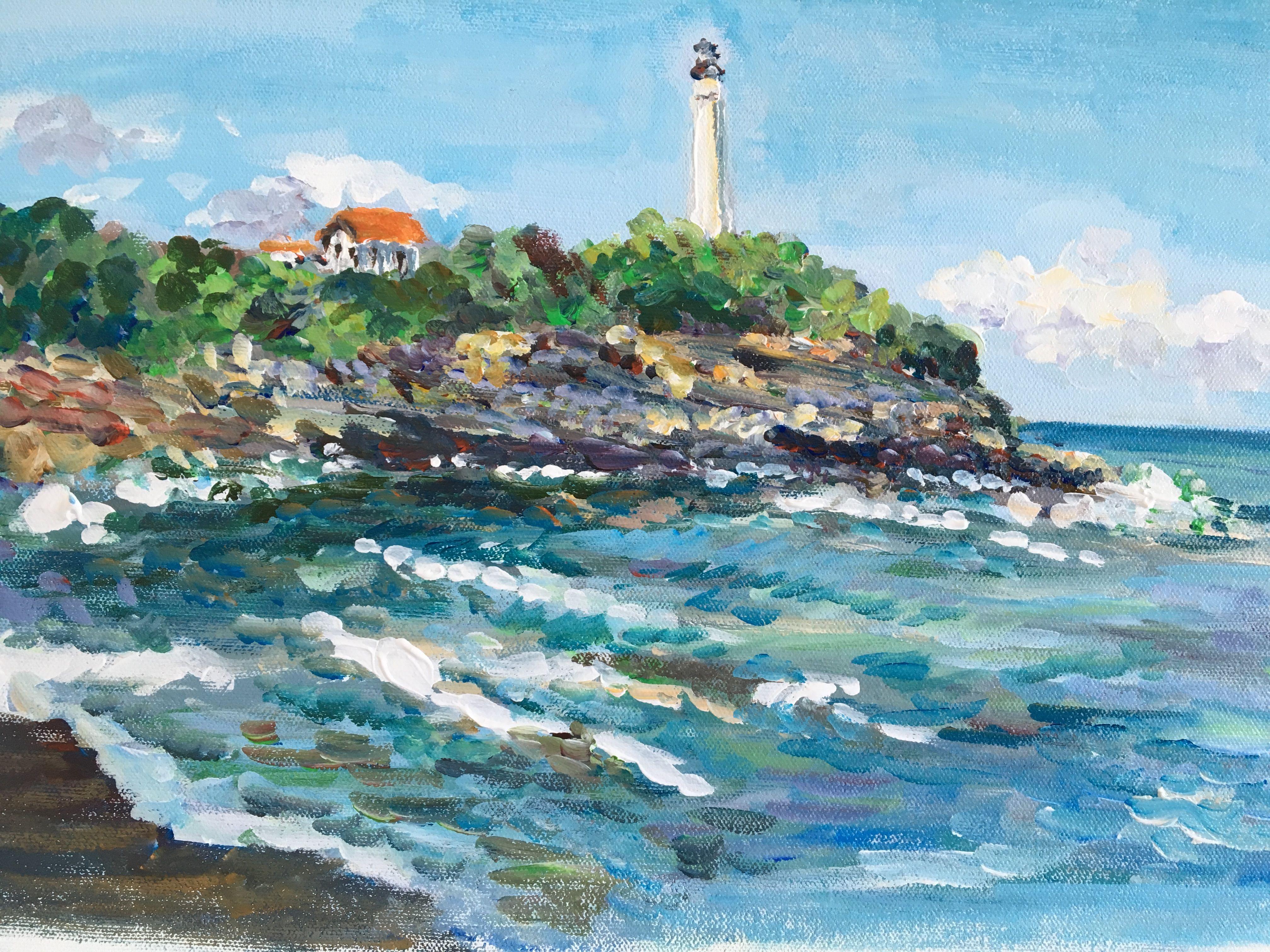 Peint Sur La Terrasse Plage De La Chambre D Amour A Anglet Phare De Biarritz Chambre D Amour Anglet Peindre