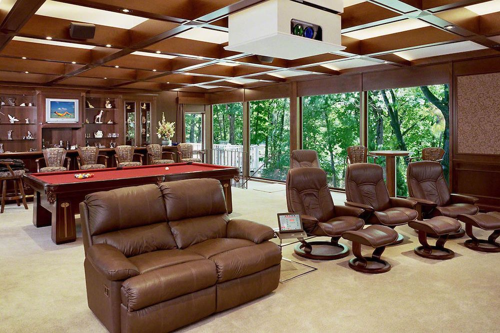 Home Billiard Room Ideas Open Space Billiard Room With