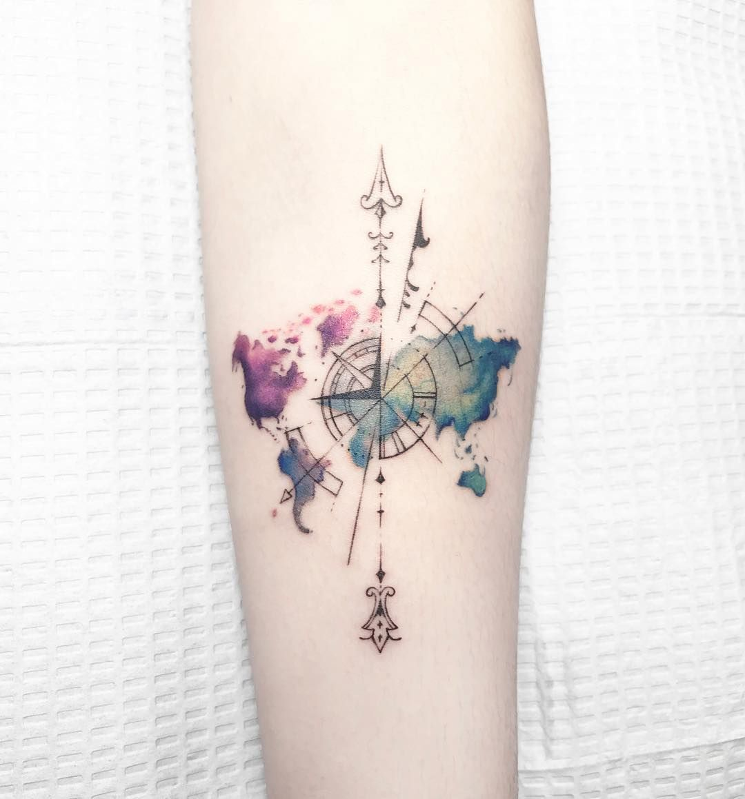 These 18 Travel-Inspired Tattoos Will Make You Desperate to Get Inked