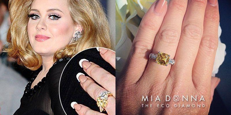 Unique Celebrity Three Stone Engagement Rings Adele Simulated Diamond Rings Engagement Three Stone Engagement Rings Celebrity Engagement Rings
