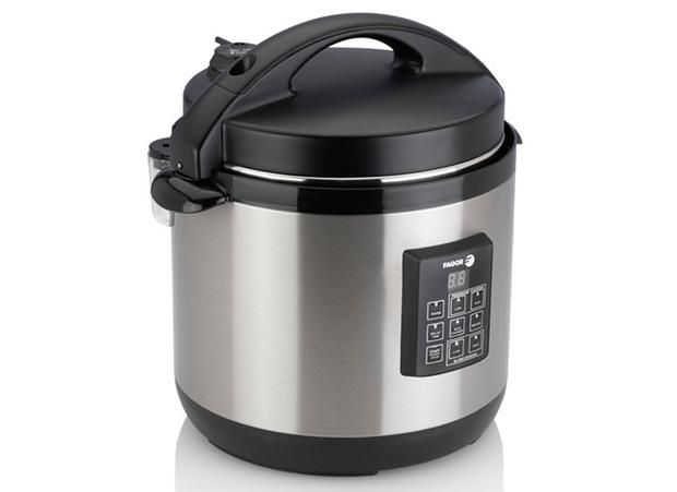 Fagor's 3-in-1 Multi-cooker.  Not only is it a pressure cooker, rice cooker and slow cooker, it can also make yogurt. It retails for about $100.