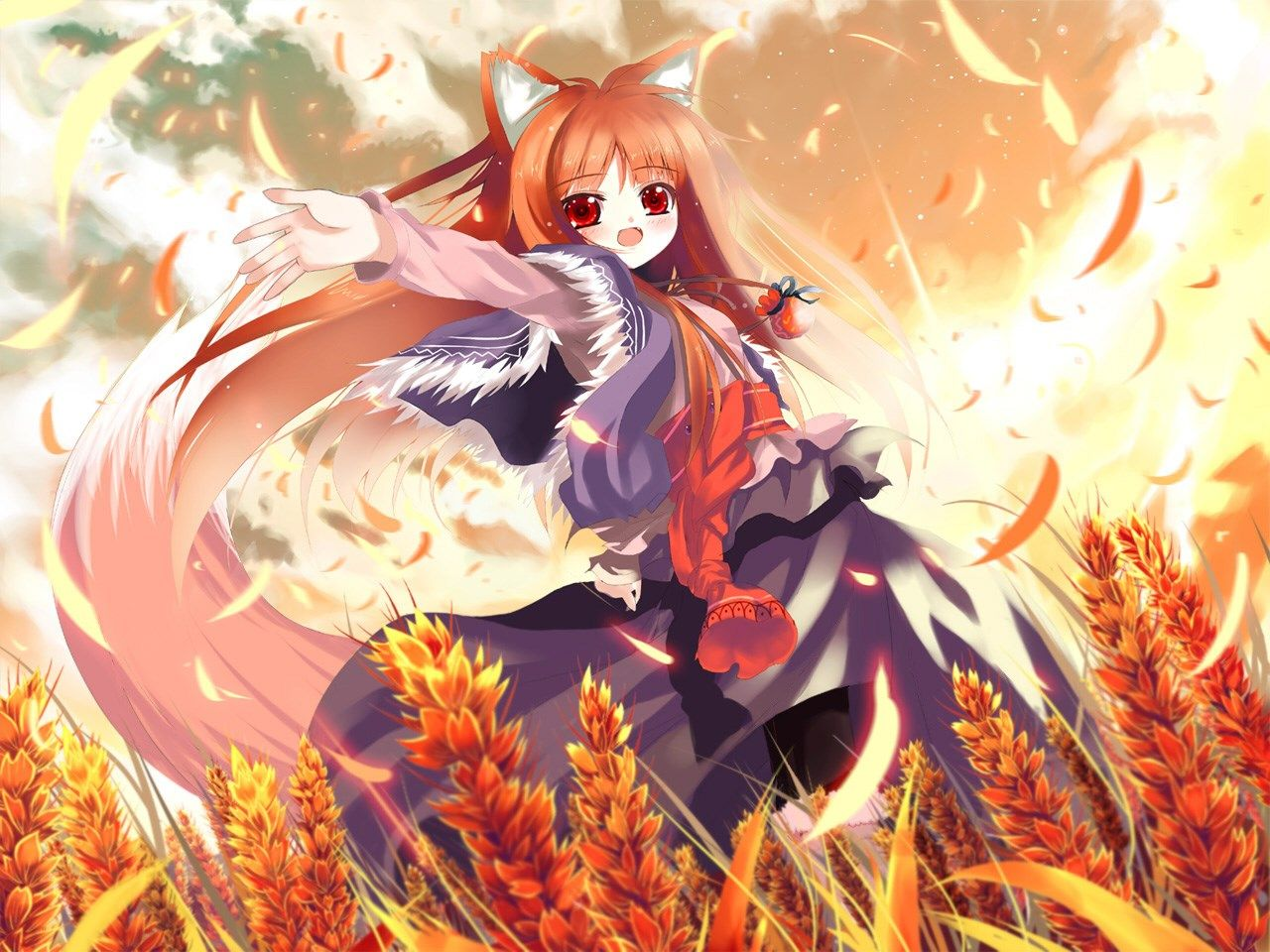 Spice And Wolf Backround For Large Desktop Spice And Wolf Category Anime Wolf Girl Spice And Wolf Holo Spice And Wolf