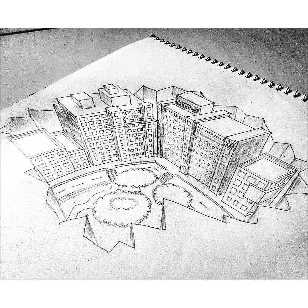 World Headquarters drawn by @jw_jennyace