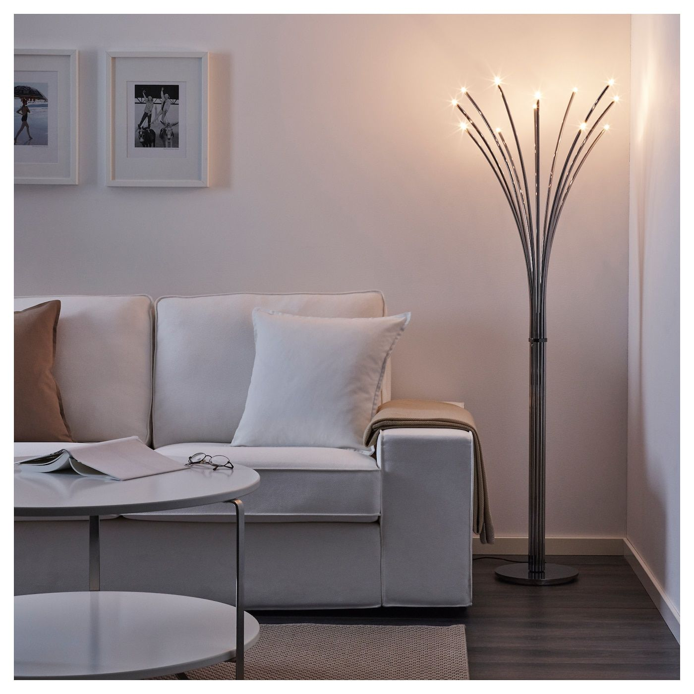Hovnas Floor Lamp Chrome Plated Chrome Plated Black Ikea Floor Lamps Living Room Ikea Floor Lamp Lamps Living Room