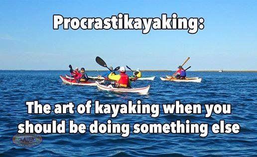 Procrastikayaking Kayaking Quotes Whitewater Kayaking Kayak Fishing