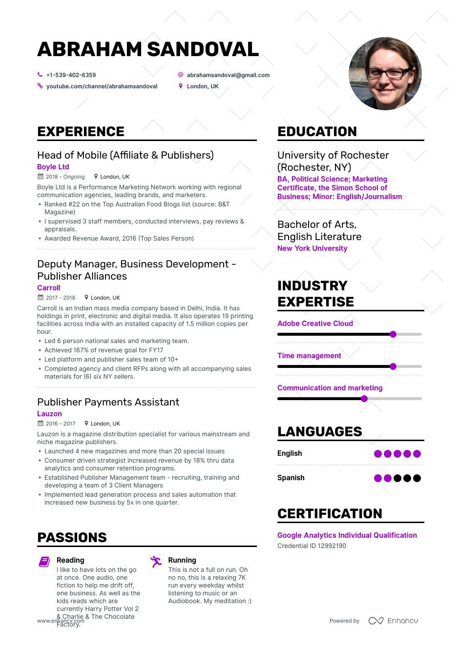 Publisher Resume Example and guide for 2019 Resume