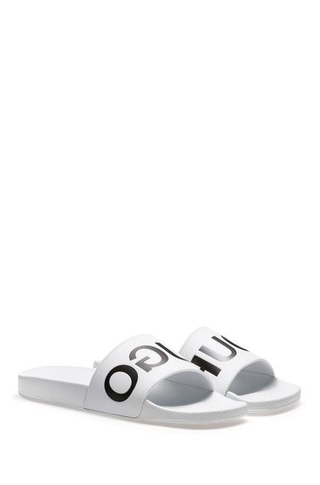 b953ac59ec9 Hugo Reverse-Logo Pool Slider Sandals - White 11