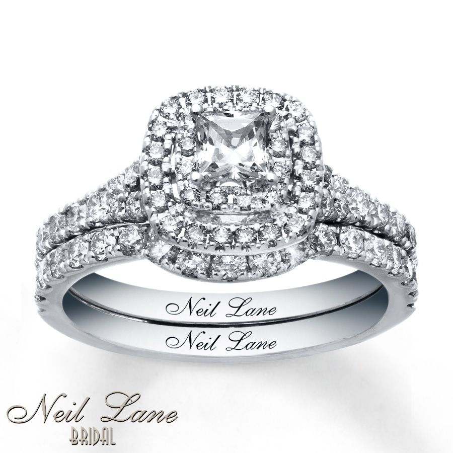 Neil Lane Bridal Set 1 1/3 Ct Tw Diamonds 14K White Gold   Wedding Photo Gallery