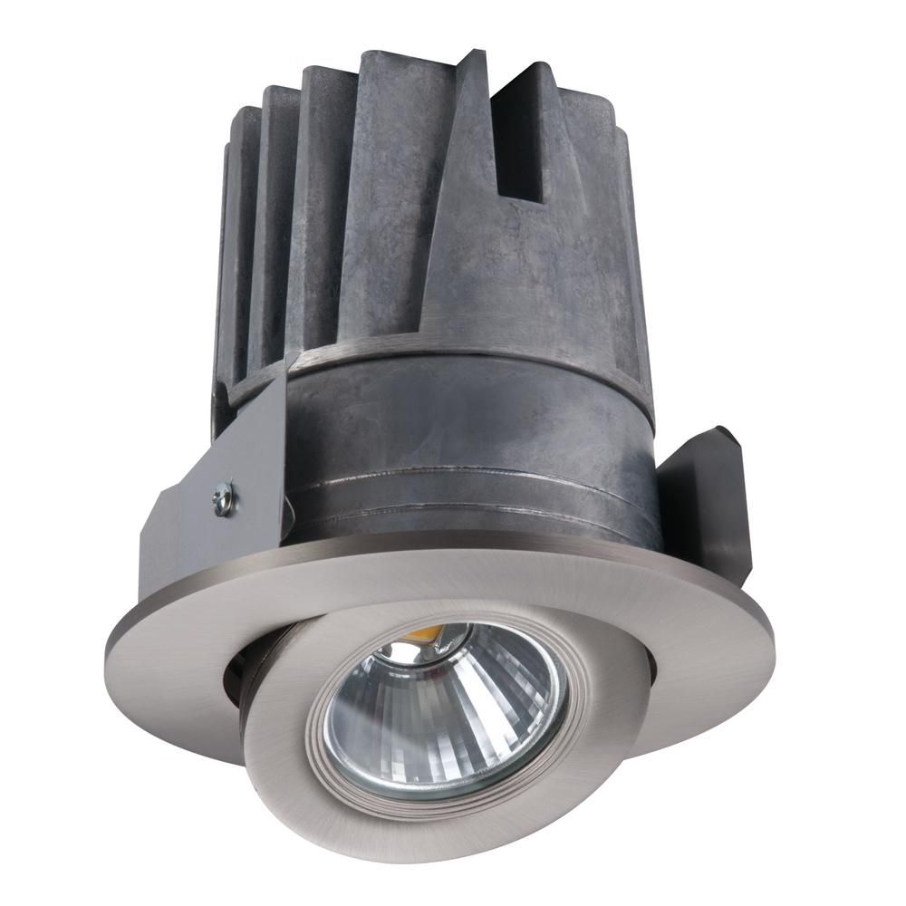 Halo 4 In Satin Nickel Gimbal Trim And Light Engine 3000k In 2020 Retrofit Recessed Lighting Recessed Lighting Recessed Lighting Fixtures