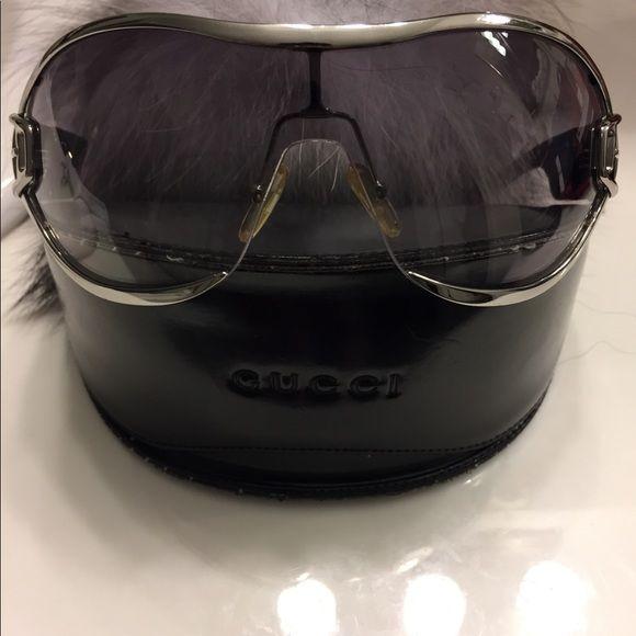 f08814321d3 Gucci-gg 2738 s Titanium framed sunglasses Gucci aviator style titanium  dark tint glasses