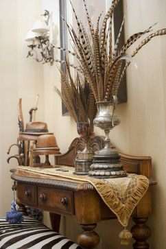 equestrian trophy room design traditional entry