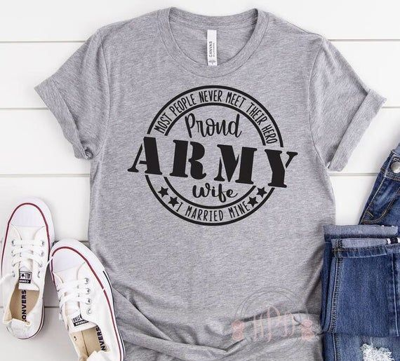 This is the perfect tee for that proud ARMY WIFE! Wear it with a pair of jeans and dress it up for a casual look! Cute, soft and comfortable Bella and Canvas brand unisex Tees are used. If selected color and or size is unavailable at time of purchase I may substitute with a like brand with same quality material. Please check color chart for available color options! If you are requesting a color not in the dropdown bar please leave the color of shirt choice in notes at checkout or message me afte