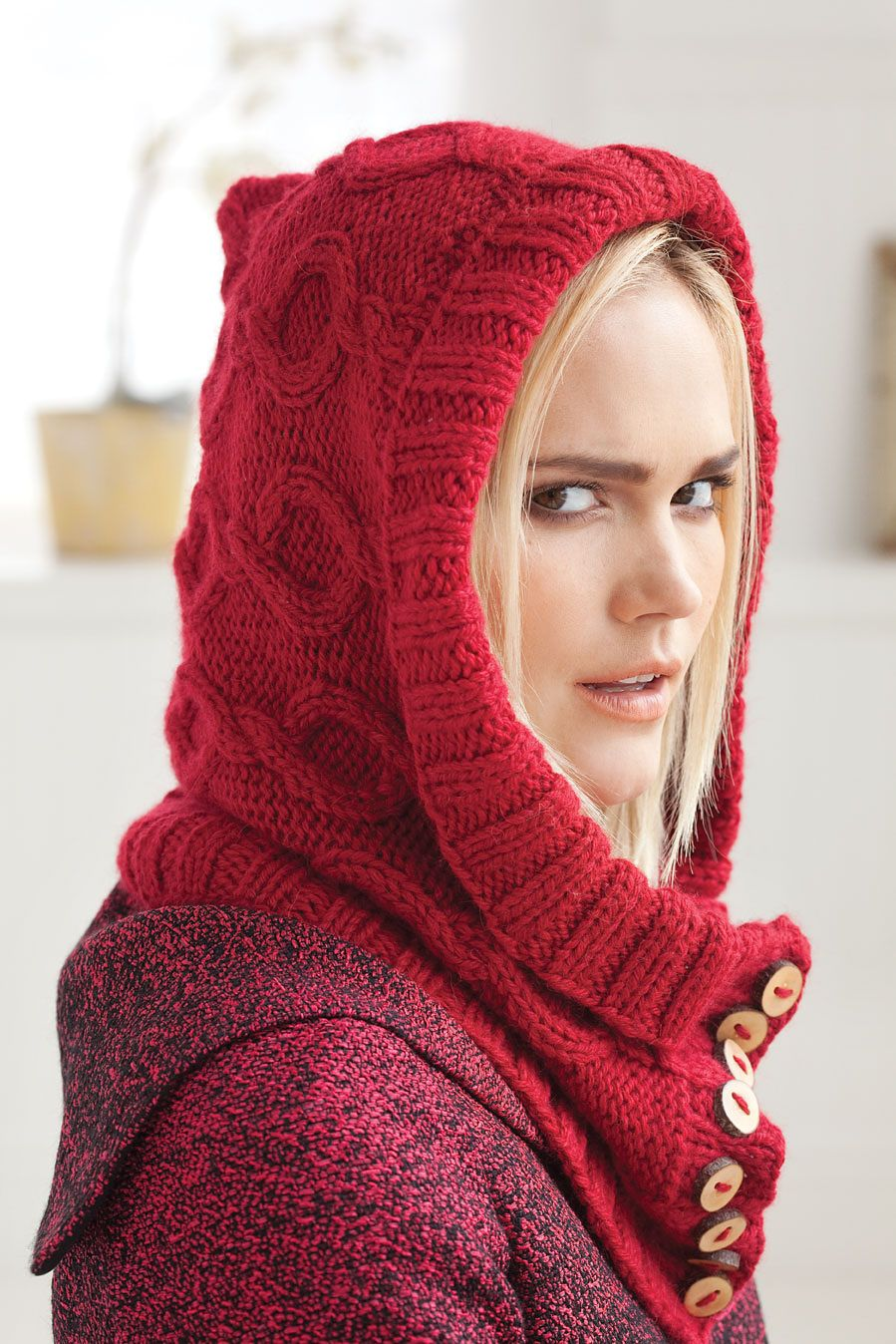 #29 Hooded Neck Piece pattern by Kalurah Hudson | Vogue ...