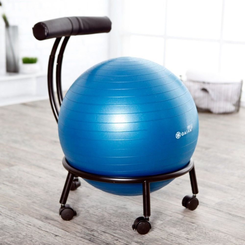 Balance Ball Chair Workout Yoga Home Desk Seat Exercise Gaiam Office Fitness Yoga Balance Ball Chair Ball Chair Exercise Ball Chairs