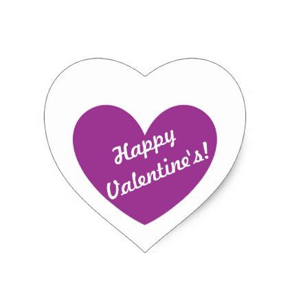 Purple polka hearts on white heart sticker flowers
