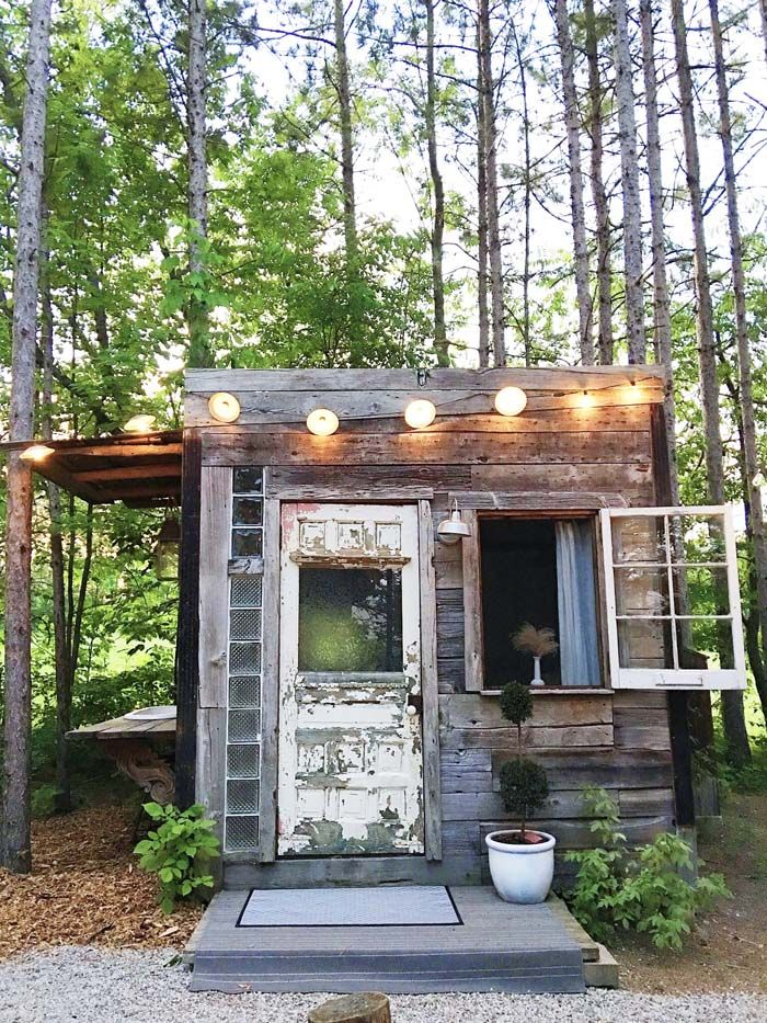 Hotel style my woman cave diy cabin cabin shed homes for Diy hotel decor