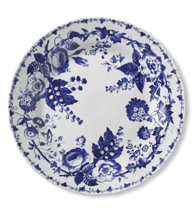 French Blue Bouquet Dinner Plates Set of Floral has dark dinner plates which work well together  sc 1 st  Pinterest & The Daily Hunt