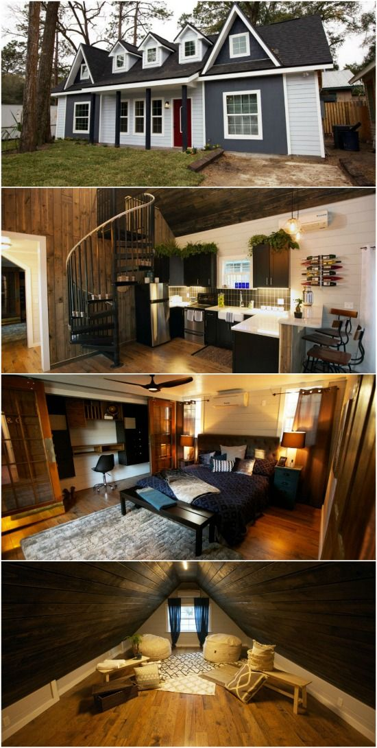 Photo of Busy Couple Design and Build Tiny Victorian House with Help of Tiny House Nation