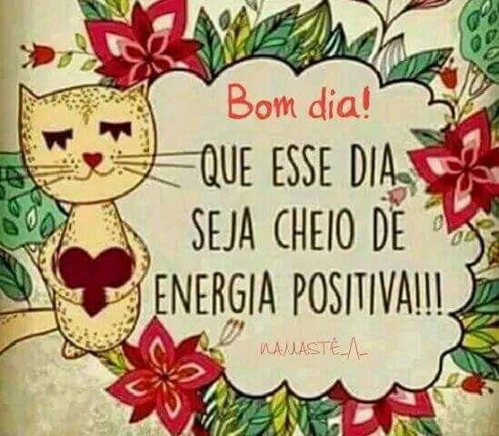 Bom dia com energia positiva
