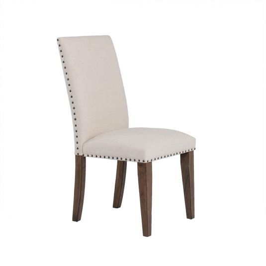 Urbana Dining Collection Upholstered Side Chair In Linen