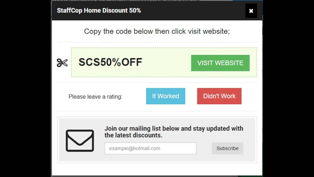 Get 65% OFF With StaffCop Coupons, Discount, Promo Codes
