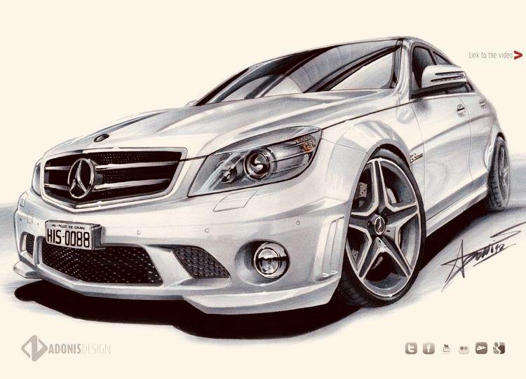 Mercedes Benz Art Vehicles Skizzen Design Auto Zeichnen Und
