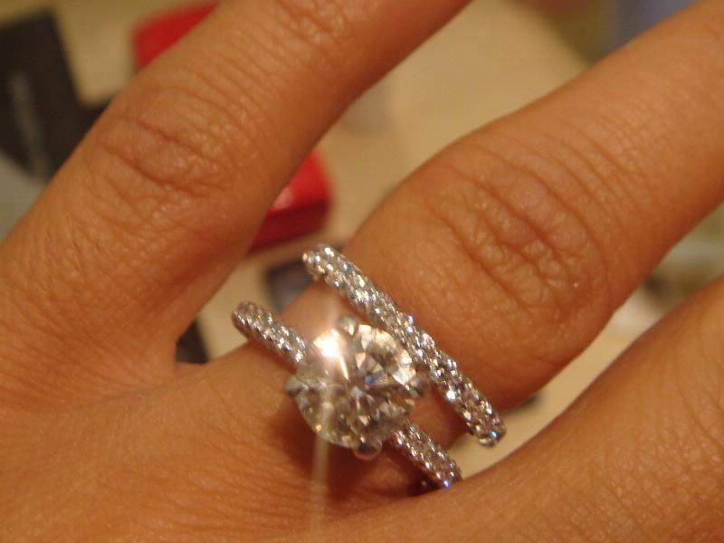 engagement ring and wedding band interlocking 29 - Wedding Bands And Engagement Rings
