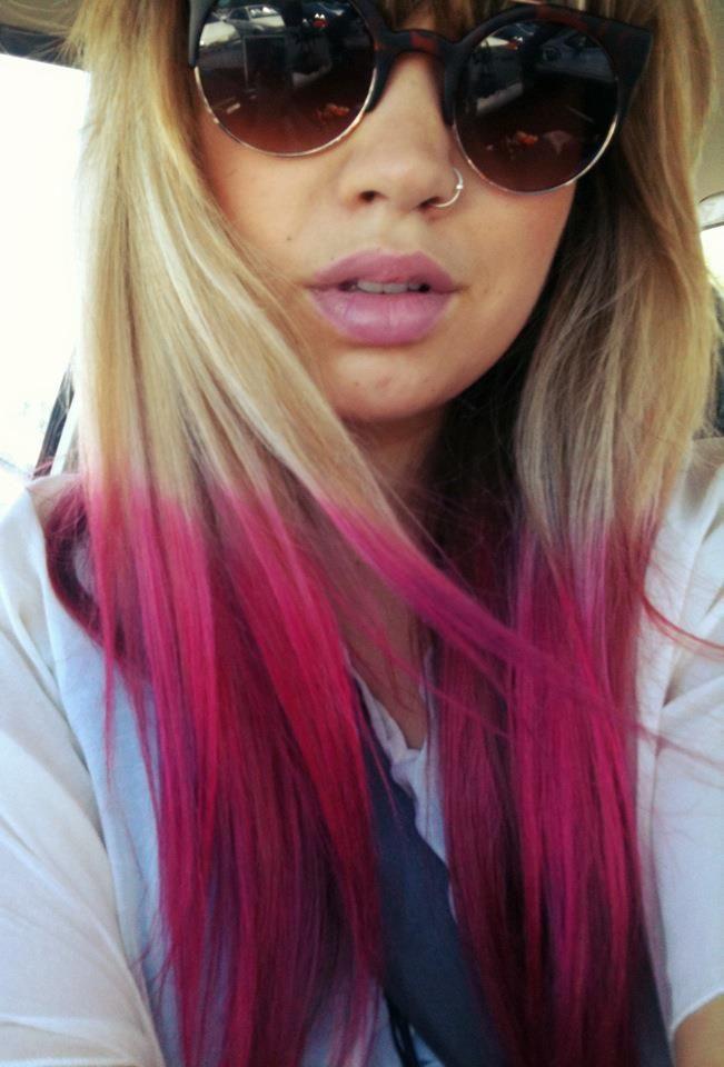 Pink Dip Dye Hair Pinterest Dip Dyed