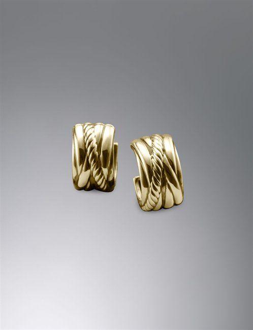 David Yurman | Women | Earrings: Crossover Huggie Earrings
