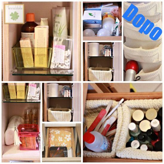 12 settimane per organizzarsi: organizzare il mobiletto del bagno ...