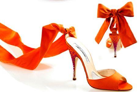 Scarpe Arancioni Sposa.Get Inspired Orange Wedding Shoes