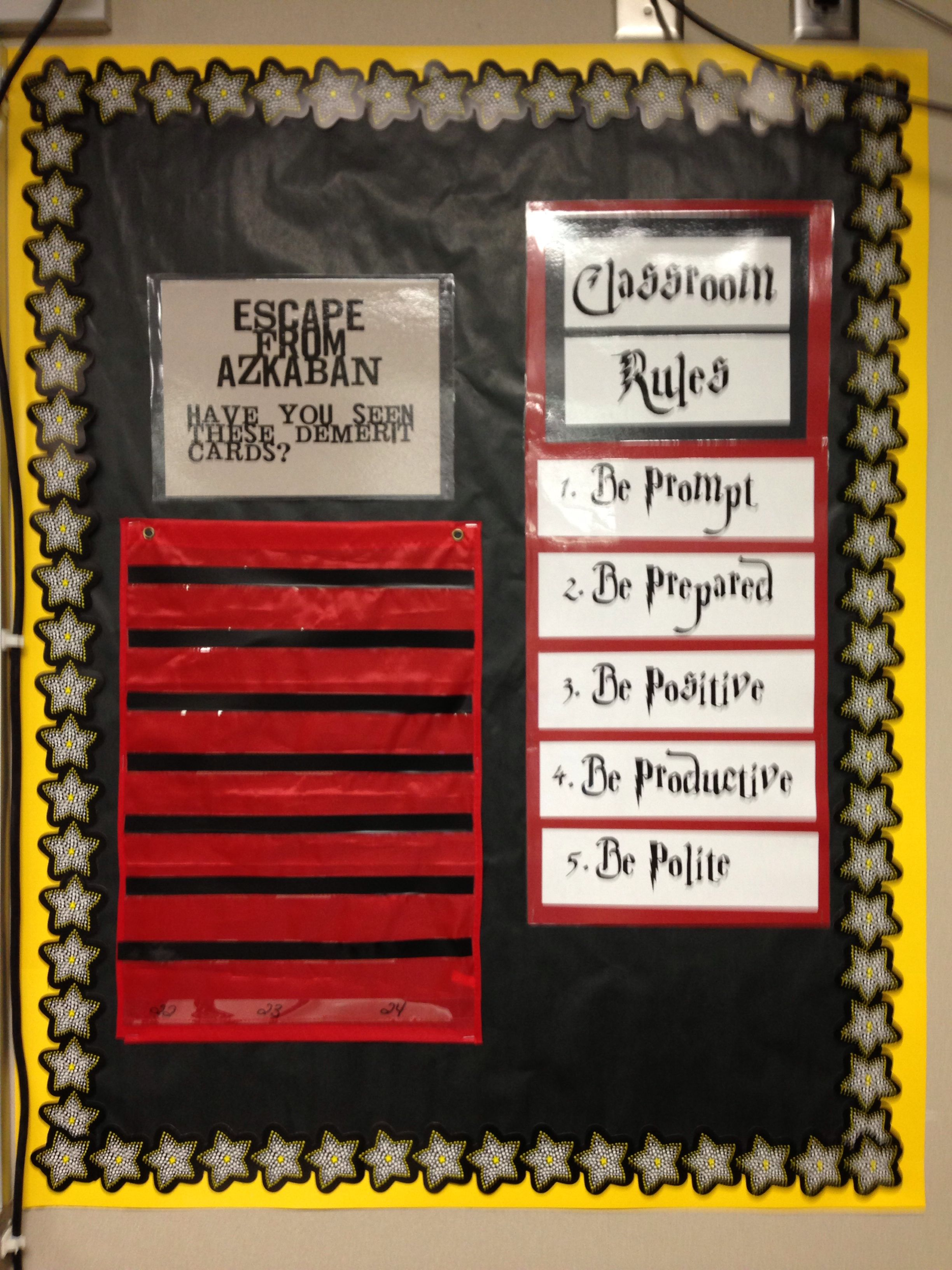 Harry Potter Classroom Classroom Rules