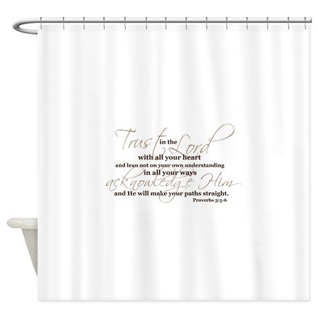 THE SCRIPTURE STALL BIBLE VERSE Shower Curtain On CafePress